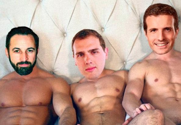 triparty desnudos