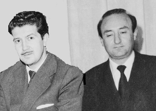 tertulia en el estudio de concha lagos años 50 Leopoldo de Luis y Manuel Alcántara y y n
