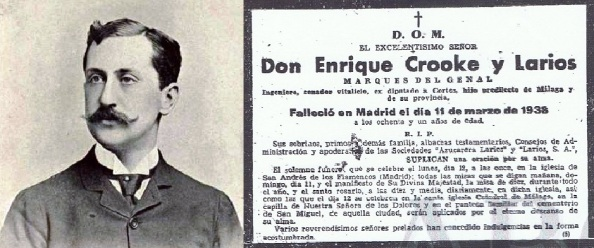 Enrique Crooke Larios y esquela 3