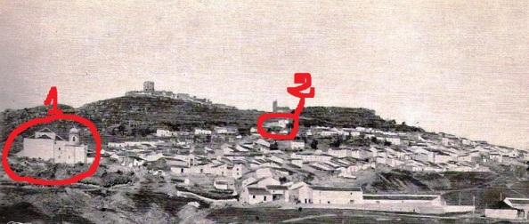 señaladas en rojo jimena iglesias antigua Coronada y misericordia